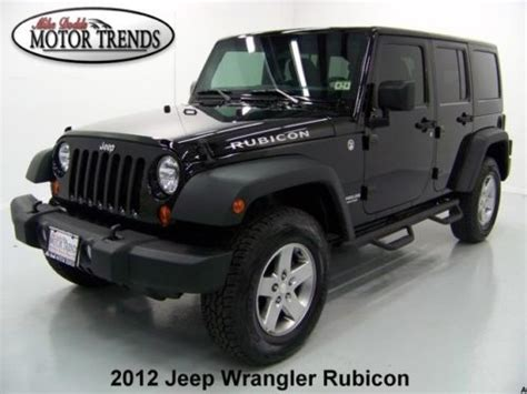 Jeep Wrangler Unlimited Side Steps Buy Used 2012 Jeep Wrangler 4x4 Unlimited Rubicon Hardtop