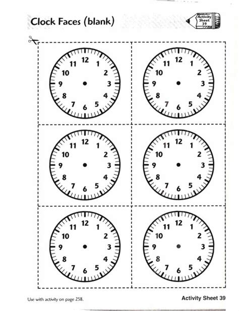 printable clock dominoes analog clock faces blank free teaching resources