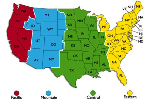 map of us time zones with the state names maps time zones us map united states