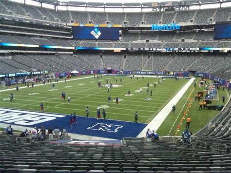 Metlife Stadium Section 148 by Giants Jets Metlife Stadium Section 148 Rateyourseats