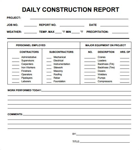 daily report 7 free pdf doc download sle templates