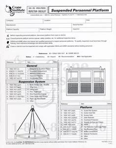 Vehicle Mounted Aerial Lift Annual Inspection Checklist Vehicle Pinterest Vehicles And Crane Crane Safety Program Template