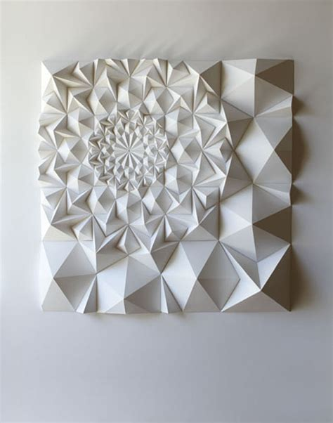 Folded Paper Sculpture - matt shlian s paper sculptures trendland