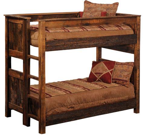 Barnwood Bunk Bed Barnwood Ladder Right Bunkbed From Fireside Lodge B10143 Coleman Furniture