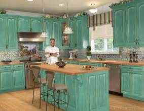 beautiful Distressed Cabinets Pictures #1: distressed-kitchen-cabinets-rustic-kitchen-idea-1-how-to-paint-intended-for-new-turquoise-kitchen-cabinets-800x618.jpg