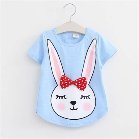 Mothercare Tshirt For Baby 8 free shipping summer baby t shirts for cotton sleeve rabbit print brand tees