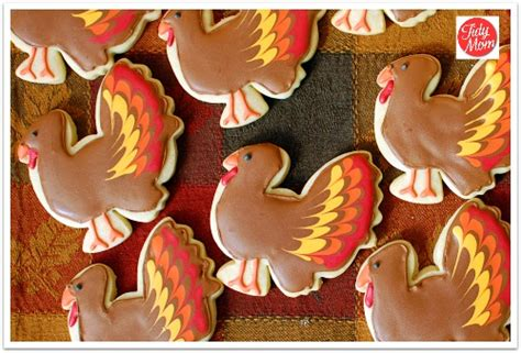 Decorated Turkey by Thanksgiving Turkey Cut Out Cookies