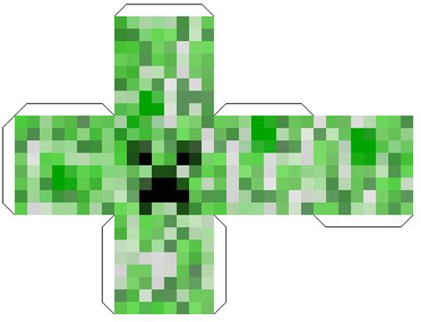 Minecraft Papercraft Creeper - minecraft papercraft block creeper