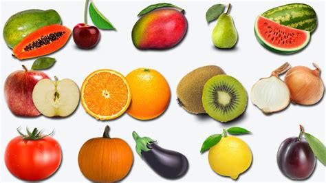 6 fruits name learn fruits names in for children learn