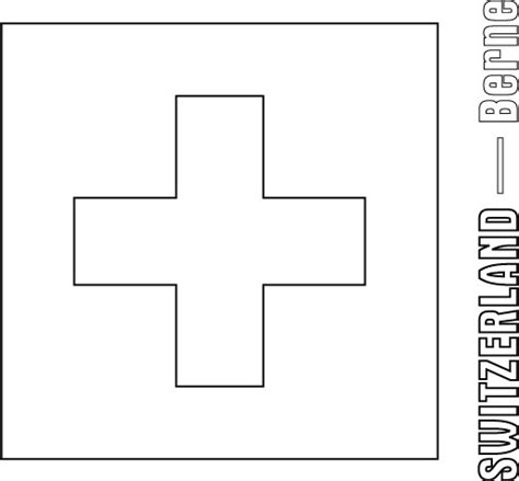 Switzerland Flag Coloring Page free coloring pages of switzerland flag
