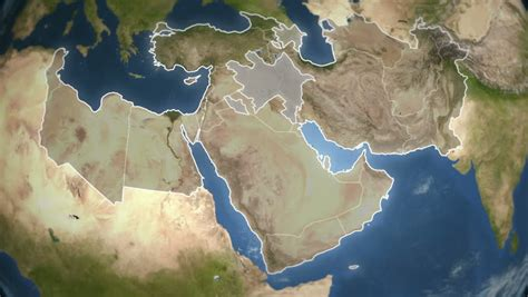 middle east map hd spinning earth with middle east country maps loopable