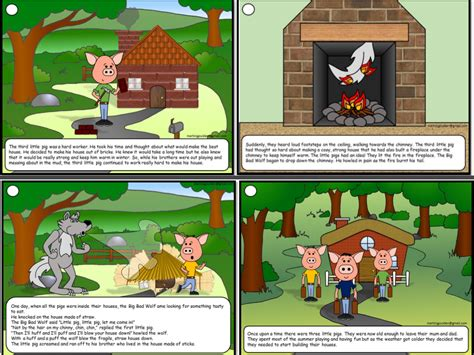 three stories three little pigs story sequence traditional tales by