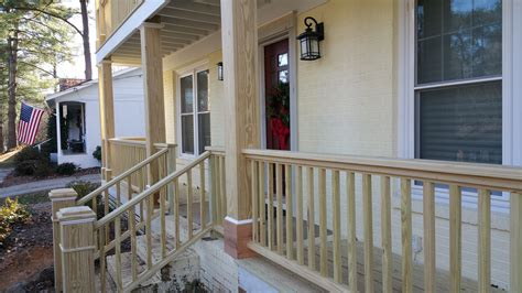 front porch banisters front porch railing affordable curved deck railing using
