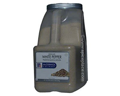mccormick white pepper ground 5lbs 2 26kg 127 09usd spice place