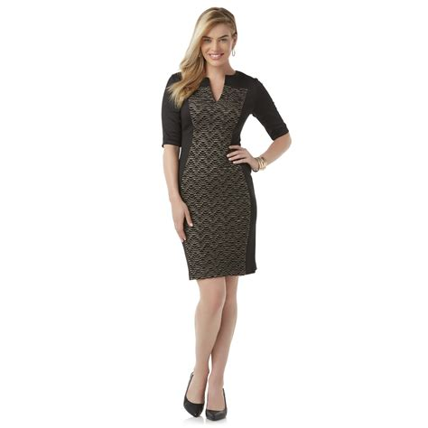 connected apparel s sheath dress