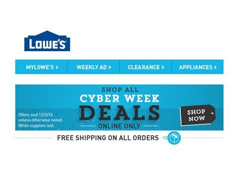 shop all the lowe s cyber week deals