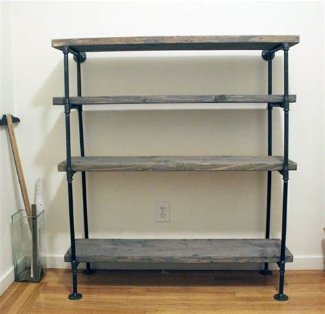 diy free standing shelves easy diy rustic shelf with plumbing pipes diy
