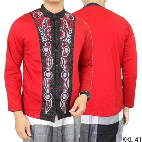Kemeja Katun Merah kemeja muslim koko panjang katun merah kkl 41 gudang