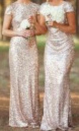 chchic rose gold sequin   bridesmaid dress