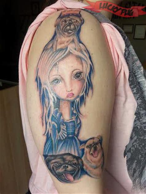 Lotus Tattoo Winnipeg   color arm pug tattoos picture gallery sleeve pug tattoo