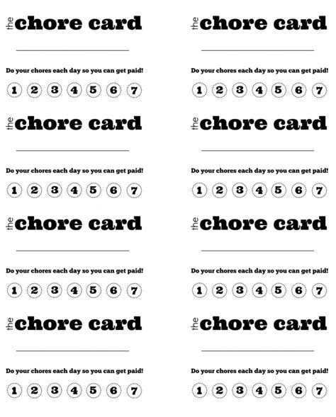 punch card template for stuff 8 best images of diy printable punch cards potty