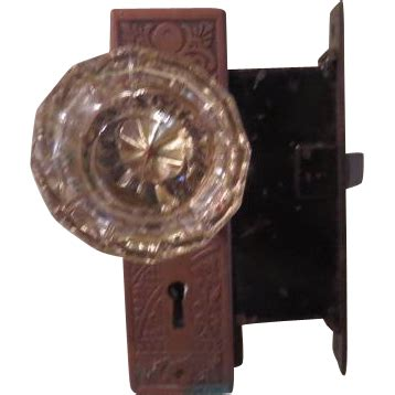 Glass Door Knob Set Glass Door Knob Set With Copper Lock Set B180 From Hodgepodgelodge On Ruby