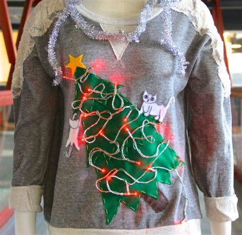homemade ugly sweater ideas quot cat quot diy sweater allfreechristmascrafts