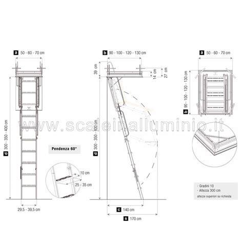 scale x soffitte scale retrattili per soffitte e sottotetti rigida 70 x 120