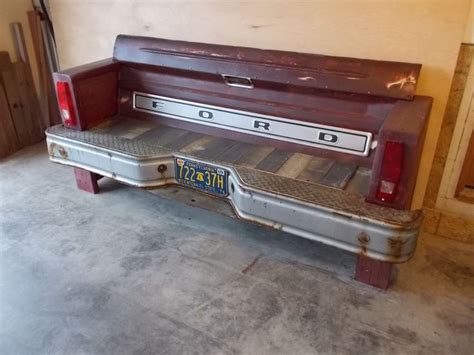 bench made from truck tailgate truck tailgate desk best home design 2018
