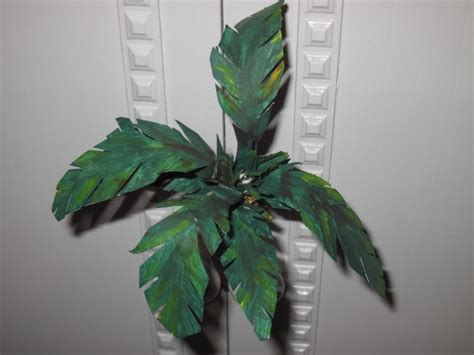 A Palm Tree Out Of Paper - paper mache palm tree decor ideas trees