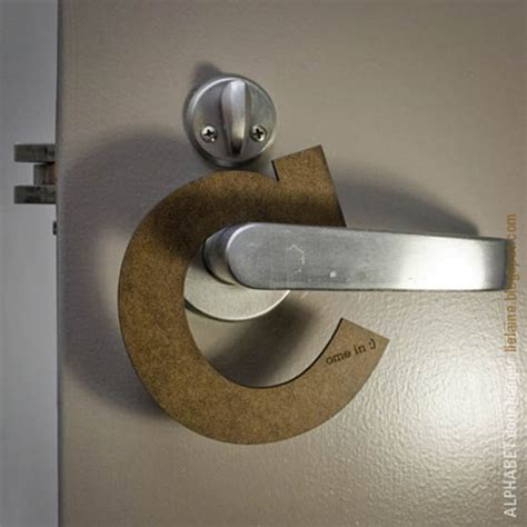 showcase  creatively designed door hangers designbeep