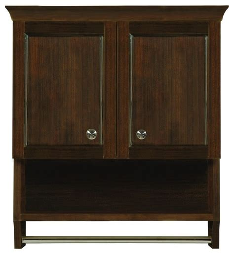 Mahogany Bathroom Furniture Decolav 5238 Mmg Modular Wall Cabinet In Mahogany Traditional Bathroom Cabinets And