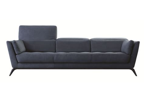 Roche Bobois Sofa by Leather Sofa With Headrest Syllabe Nouveaux Classiques
