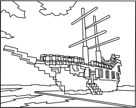 printable roblox pirate ship coloring bebo pandco