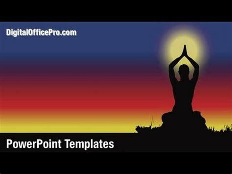 Yoga Exercise PowerPoint Template Backgrounds