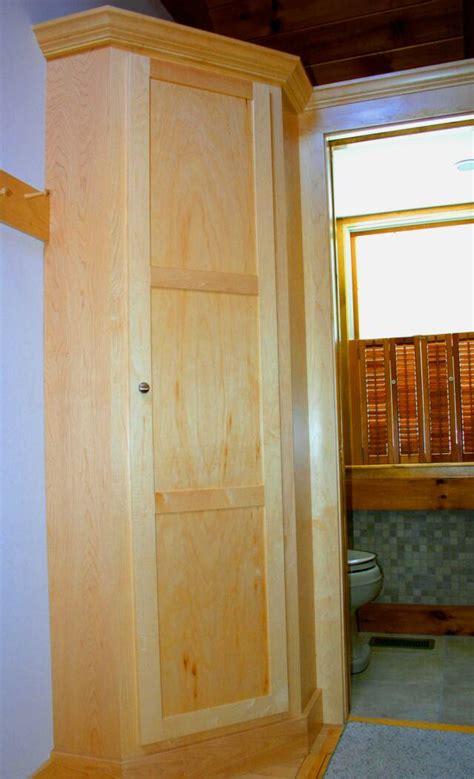 Corner Broom Closet Cabinet maple corner unit 1 op 640x1052 jpg 640 215 1052 used as a