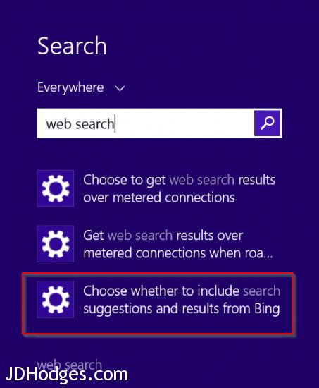 how to removedisable web search from windows 10 windows 8 1 disable web search