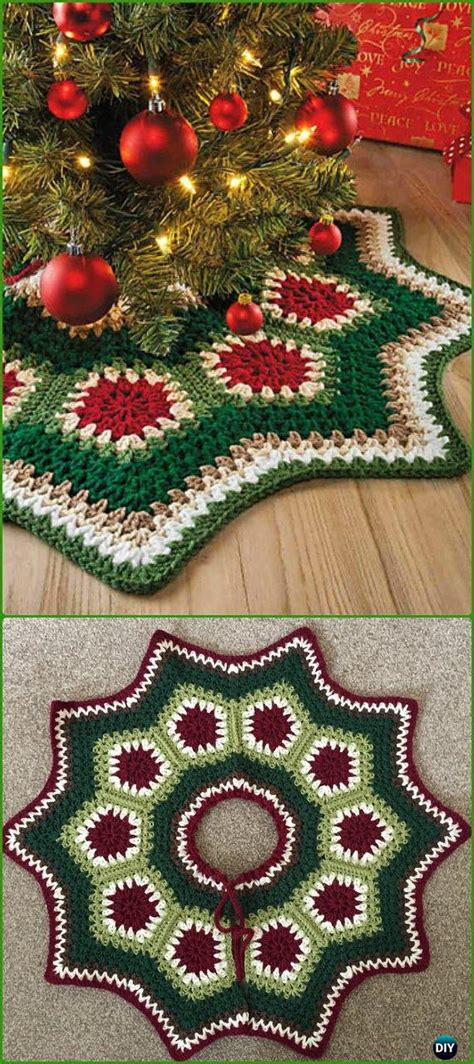 crochet christmas tree skirt patterns crochet tree skirt free patterns