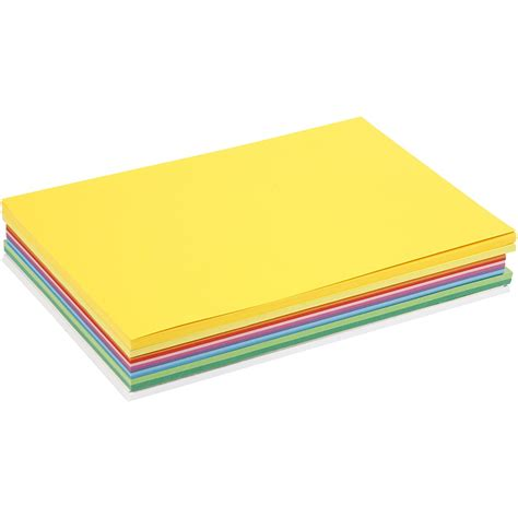 Craft Paper Card Stock - 30 x a4 card stock assorted 13 colours scrapbooking