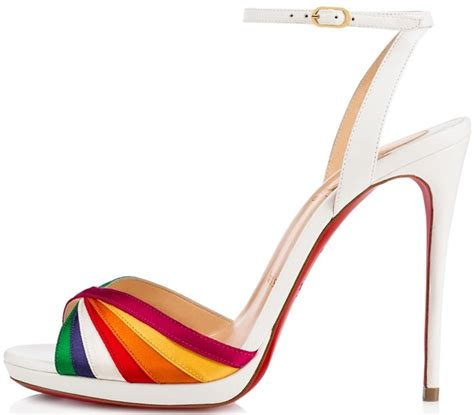 rainbow sandals nyc rainbow dash summer shoes by christian louboutin