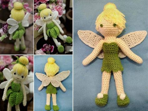 cute tinkerbell crochet doll pattern free beesdiy com