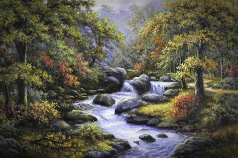 3d Planner App forest creek painting by charles kim