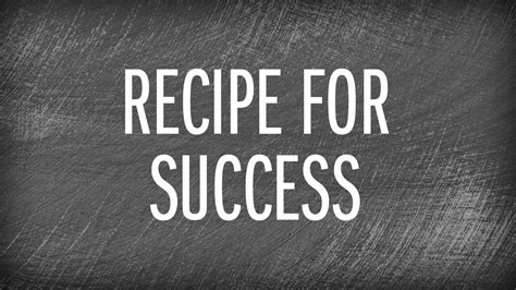 recipes for food recipe for success food network