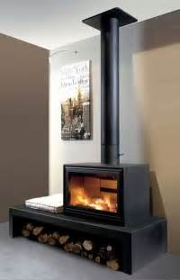 modern wood stoves and inserts on corner
