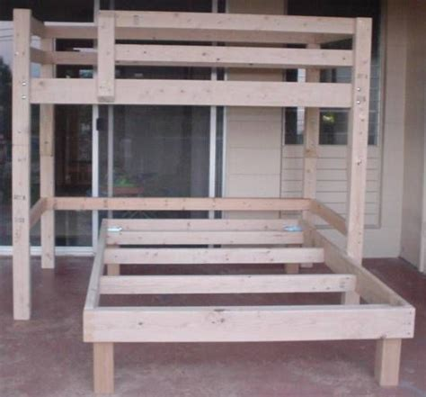 full size loft bed plans build full size bunk bed woodworking projects plans