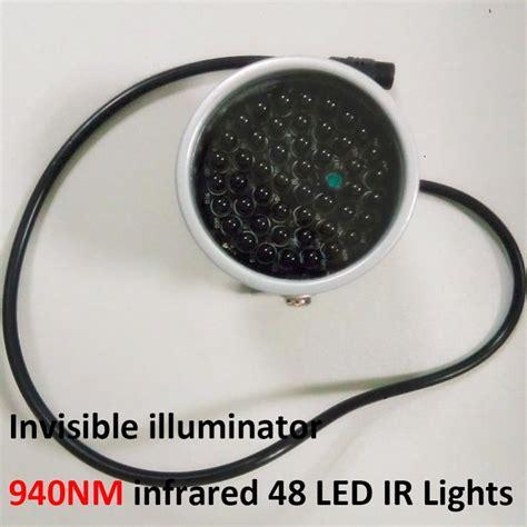 illuminatore ir invisible illuminator 940nm infrared 60 degree 48 led ir