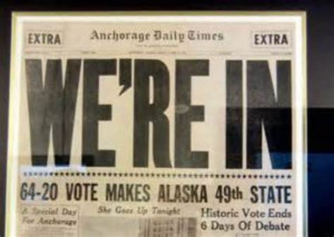 Alaska The 49th State by United States History Resource Timeline Timetoast Timelines