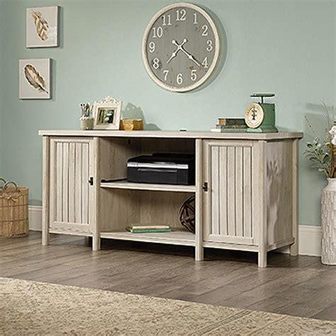 credenza home depot sauder costa chalked chestnut desk and credenza 419959