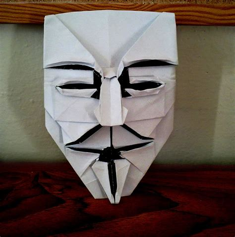 Origami Fawkes Mask - fawkes mask by yarin108 on deviantart