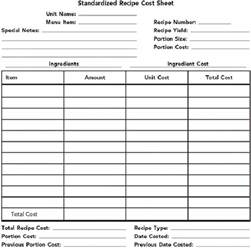 food costing sheet template how to calculate food costs and price your restaurant menu